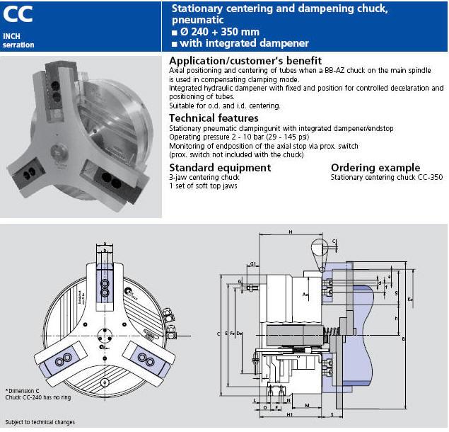 SMW-AUTOBLOK STATIONARY CENTERING AND DAMPENING PNEUMATIC ...
